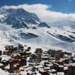 Views of Val Thorens ski resort, France - Stock Photo