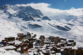Ansichten von val thorens skigebiet, frankreich — Stockfoto