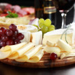 Cheese and salami platter with herbs — Stock Photo #10092282