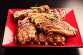 Delicious BBQ spare ribs — Stock Photo