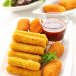 Fried cheese sticks - Stock Photo