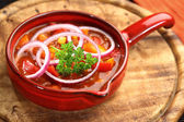 Mexican cuisine with chilli con carne — Stock Photo