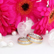 Two wedding rings - Stok fotoğraf