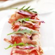 Prosciutto cheese rolls — Stock Photo