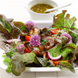 Spring salad with mushrooms - Stock Photo