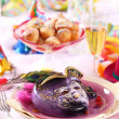 Carnival place setting - Stock Photo