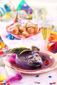 Carnival place setting — Stock Photo