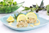 Baked hake — Stock Photo