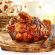 Grilled knuckle of pork - Stock Photo
