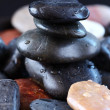 Stack of balanced zen stones - Stock Photo
