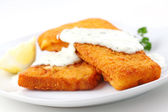 Breaded fish flilet — Stock Photo