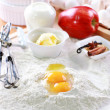 Baking ingredients for apple pie — Stock Photo #9126834