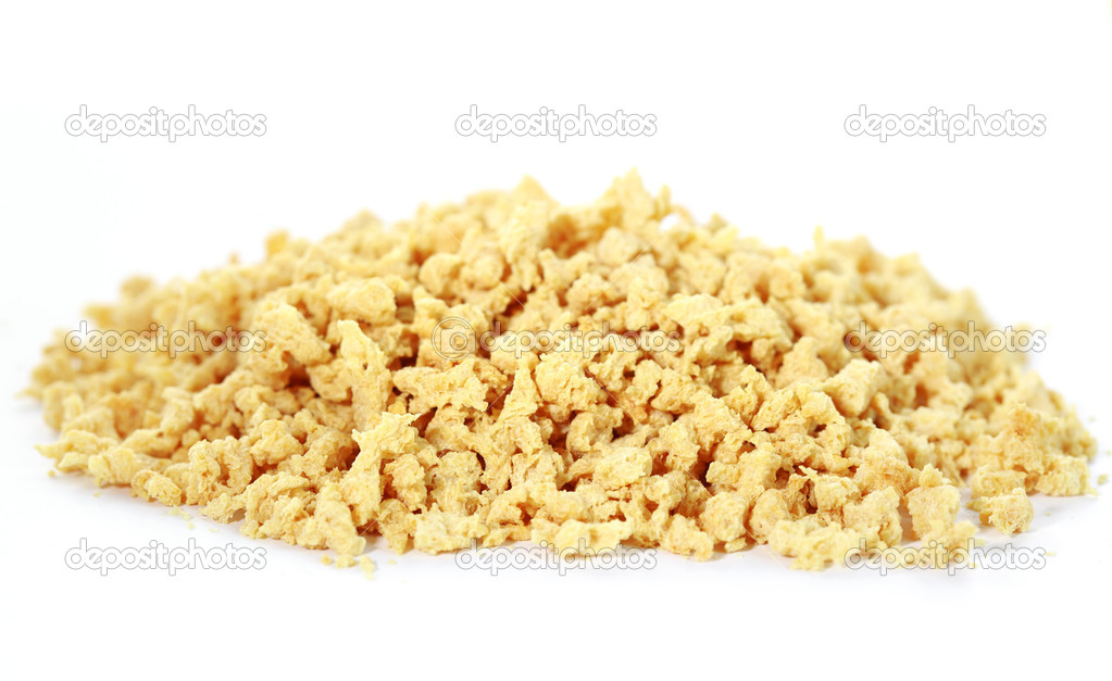 Soya flakes on white background — Stock Photo #9284540