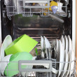 Open dishwasher - Stok fotoraf