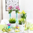 Foto Stock: Place setting for Easter