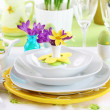 Place setting for Easter — Stock Photo