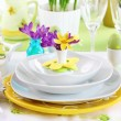 Place setting for Easter — Stock Photo #9577264