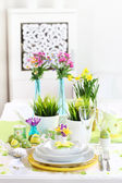 Place setting for Easter — Stok fotoğraf