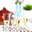 Sparkling wine on the table - Stock Photo