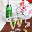Sparkling wine on the table — ストック写真