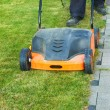 Using a scarifier — Stock Photo
