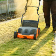 Using a scarifier - Stock Photo