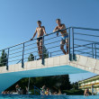 Thermal swimming pool - Stockfoto