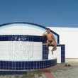Thermal swimming pool — Stock Photo