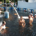 Thermal swimming pool — Stock Photo