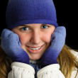 Cold young lady. — Stock Photo