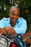 Handsome black man — Stock Photo