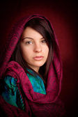 Attractive woman with scarf — Stock Photo