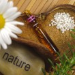 Alternative medicine with homeopathy — Stock Photo