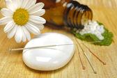 Alternative medicine with homeopathy — Stock Photo