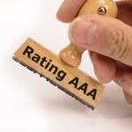 Rating aaa — Stock Photo