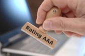 Rating aaa — Stock Photo