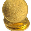 Foto Stock: Golden coins