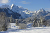 Bavarian winter landscape — Stock Photo