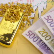 Stock Photo: Gold and euro
