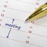 Meeting date — Stock Photo