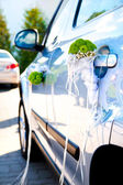 Car decorated for wedding — Stock Photo