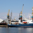 Saint-Petersburg. The cranes at seaport — Stock Photo