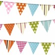 Stock Vector: Bunting background on white