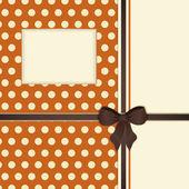 复古橙色和棕色丝带背景 — 图库矢量图片