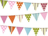 Bunting background on white — 图库矢量图片