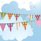 Bunting and blue sky 2 — Stock Vector