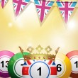 Bingo balls and bunting — Stock Vector