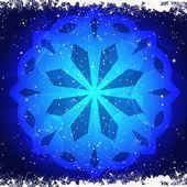 Snwoflake świecące na niebiesko — Wektor stockowy