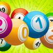 Royalty-Free Stock Vector Image: 2012 bingo lottery balls on green