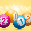 2012 bingo lottery balls — Stock Vector